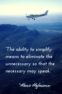 """The ability to simplify means to"
