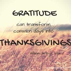 An Attitude of Thanksgiving